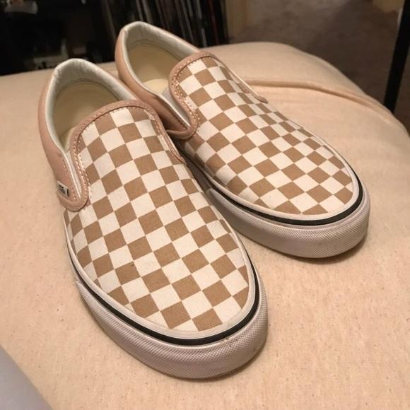 checkered vans tan \u003e Up to 67% OFF \u003e In